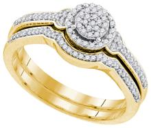 0.25CT Diamond Bridal 10KT Ring Yellow Gold - REF-32W9H