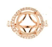 Genuine 14K Rose Gold 0.68CTW Diamond Semi Mount Ring - REF-96Z2T