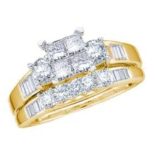 0.50CT Diamond Bridal 10KT Ring Yellow Gold - REF-37K5M