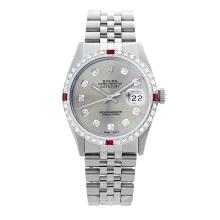 Lot 3013: Rolex Pre-owned 36mm Mens Silver Stainless Steel - REF-580Y4W