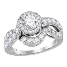 Lot 3040: 1.99 CTW Diamond Bridal Wedding Engagement Anniversary Ring 14k White Gold - REF-400X4Y