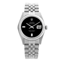 Lot 3148: Rolex Pre-owned 36mm Mens Black Dial Stainless Steel - REF-450R3M