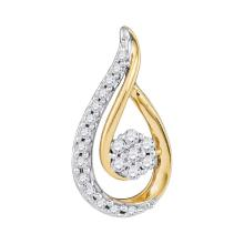 Lot 3180: 0.25 CTW Diamond Teardrop Pendant 10KT Yellow Gold - REF-25F4N