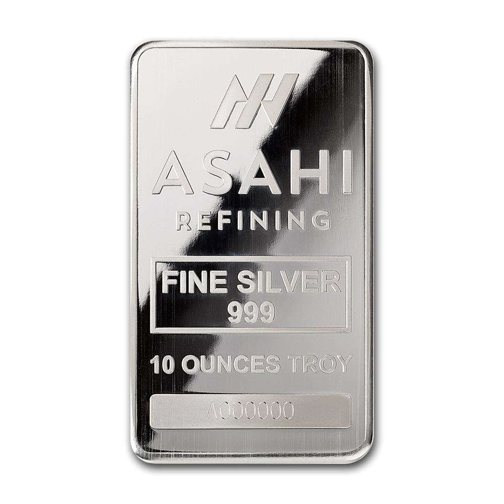 Lot 3080: Genuine 10 oz 0.999 Fine Silver Bar - Asahi Refining