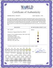 Lot 3004: Genuine 1.25 ctw Amethyst Necklace Jewelry 14KT Yellow Gold - REF-29P3H