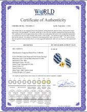 Lot 3008: 0.45 CTW Blue Color Diamond Oval Cluster Earrings 10KT Yellow Gold - REF-26H9M