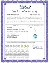 Lot 3012: Genuine 13.9 ctw Blue Topaz Necklace Jewelry 14KT Rose Gold - REF-41P3H