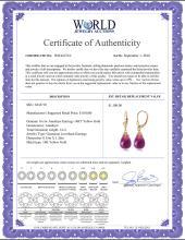 Lot 3027: Genuine 14 ctw Amethyst Earrings Jewelry 14KT Yellow Gold - REF-34V3W