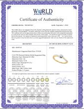 Lot 3034: 0.16 CTW Diamond Solitaire Bridal Engagement Ring 10KT Yellow Gold - REF-18F2N