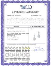 Lot 3041: 0.33 CTW Diamond Oval-shape Dangle Screwback Earrings 10KT White Gold - REF-28Y4X