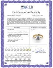 Lot 3050: 14K 2Tone Gold 0.91 ctw Natural Diamond Solitaire Ring - REF-243R2M-WJ13202