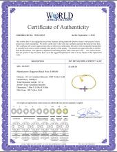 Lot 3051: Genuine 1.15 ctw Amethyst Bracelet Jewelry 14KT Yellow Gold - REF-53K2V