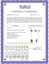 Lot 3059: Genuine 4.2 ctw Peridot Earrings Jewelry 14KT White Gold - REF-32V2W