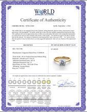 Lot 3072: 14K 2Tone Gold 1.36 ctw Natural Diamond Solitaire Ring - REF-403G2K-WJ13206