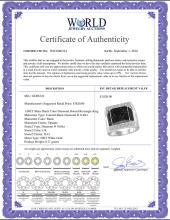 Lot 3085: 1.08 CTW Mens Black Color Diamond Domed Rectangle Cluster Ring 10KT White Gold - REF-97W4K