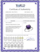 Lot 3088: Natural 4.11 ctw Amethyst & Diamond Engagement Ring 10K White Gold - REF-34W3K