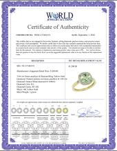 Lot 3103: Natural 3.94 ctw Green-amethyst & Diamond Engagement Ring 14K Yellow Gold - REF-38R3Z