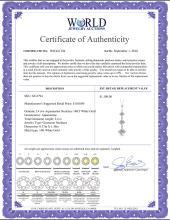 Lot 3106: Genuine 2.4 ctw Aquamarine Necklace Jewelry 14KT Rose Gold - REF-36M3T