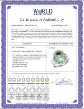 Lot 3110: Natural 11.02 ctw Green-amethyst & Diamond Engagement Ring 10K White Gold - REF-50R9Z