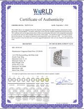 Lot 3114: Natural 1.43 CTW Diamond & Diamond Ring 18K White Gold - REF-175K5W