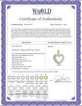Lot 3129: 0.27 CTW Diamond Heart Outline Pendant 14KT Yellow Gold - REF-22Y4X