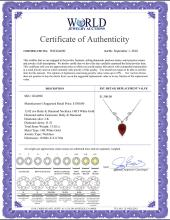 Lot 3130: Genuine 13.02 ctw Ruby & Diamond Necklace Jewelry 14KT White Gold - REF-42W2Y