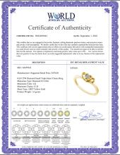 Lot 3135: 0.03 CTW Diamond Small Triple Heart Cluster Ring 10KT Yellow Gold - REF-12F2N