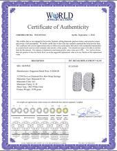 Lot 3136: 3 CTW Pave-set Diamond Five Row Hoop Earrings 14KT White Gold - REF-326H9M