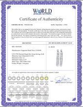 Lot 3143: 0.25 CTW Diamond Single Row Hoop Earrings 14KT White Gold - REF-30H2M