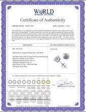 Lot 3145: 14K White Gold 2.04 ctw Natural Diamond Stud Earrings - REF-521Y4X-WJ13305