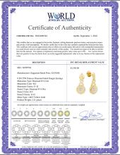 Lot 3147: 0.50 CTW Princess Diamond Soleil Cluster Dangle Earrings 14KT Yellow Gold - REF-59H9M