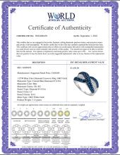 Lot 3155: 1 CTW Blue Color Diamond Crossover Ring 10KT White Gold - REF-41X9Y