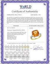Lot 3158: Natural 5.96 ctw Citrine & Diamond Engagement Ring 10K Yellow Gold - REF-32Z4Y