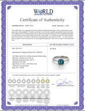 Lot 3161: 14K White Gold 0.83 ctw Blue Diamond Solitaire Ring - REF-153W4K-WJ13233