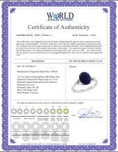 Lot 3165: Natural 2.51 ctw Lapis & Diamond Engagement Ring 10K White Gold - REF-22K5R