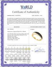 Lot 3167: 0.75 CTW Mens Black Color Diamond Ring 10KT Yellow Gold - REF-26N9F