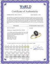 Lot 3177: Natural 1.3 ctw Mystic-topaz & Diamond Engagement Ring 14K Yellow Gold - REF-32K2R