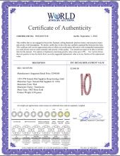 Lot 3196: 1.95 CTW Natural Pink Sapphire Hoop Earrings 14KT Rose Gold - REF-75N2F