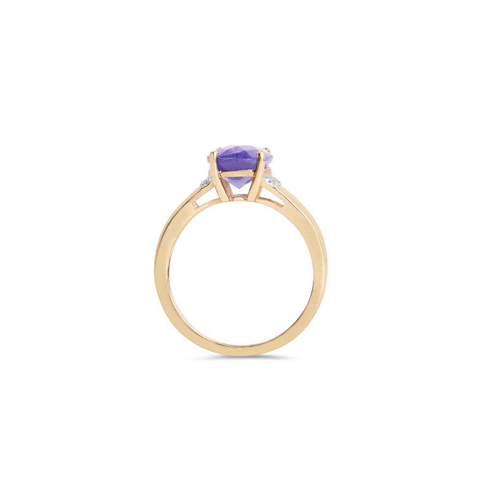 Lot 3097: 2.55 CTW Tanzanite & Diamond Ring 14K Yellow Gold - REF-108U6X