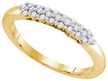 0.25CT Diamond Anniversary 10KT Ring Yellow Gold - REF-24R2K