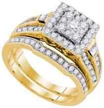 1CT Diamond Anniversary 14KT Ring Yellow Gold - REF-119R9K