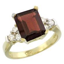 Natural 2.86 ctw garnet & Diamond Engagement Ring 14K Yellow Gold - SC#CY410167 - REF#57F7V