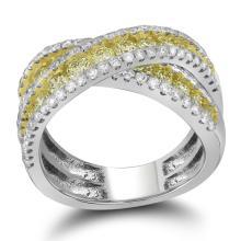 2.33CT Diamond Anniversary 14KT Ring White Gold - REF-209V9Y