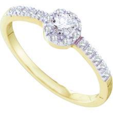 0.25CT Diamond Bridal 14KT Ring Yellow Gold - REF-25M4W