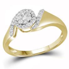 0.20CT Diamond Anniversary 10KT Ring Yellow Gold - REF-19H4N