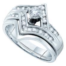 0.25CT Diamond Bridal 14KT Ring White Gold - REF-44F9V