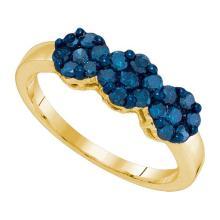 0.75CT Diamond Anniversary 10KT Ring Yellow Gold - REF-30M2W