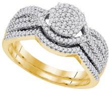 0.50CT Diamond Bridal 10KT Ring Yellow Gold - REF-43F4V