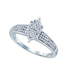 0.25CT Diamond Micro-Pave 10KT Ring White Gold - REF-26W9H