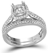 0.35CT Diamond Semi-Mount 14KT Ring White Gold - REF-79M4F